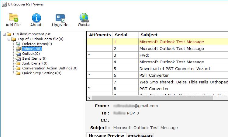 Utilice Bitrecover PST Viewer para abrir el archivo de datos de Outlook sin Outlook