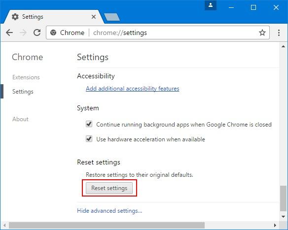 Configuración predeterminada para arreglar Google no guarda contraseñas