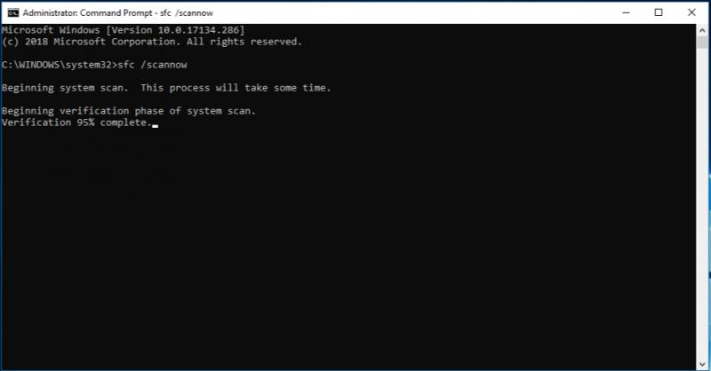 Para reparar una unidad flash dañada sin formatear con el comando SFC