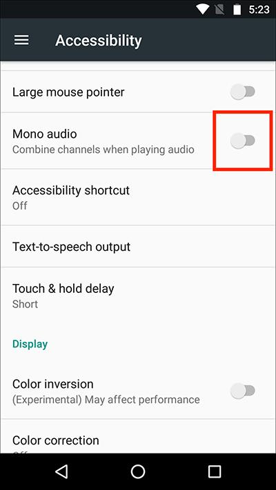 Active la opción de audio mono para arreglar mi volumen sigue bajando solo Android