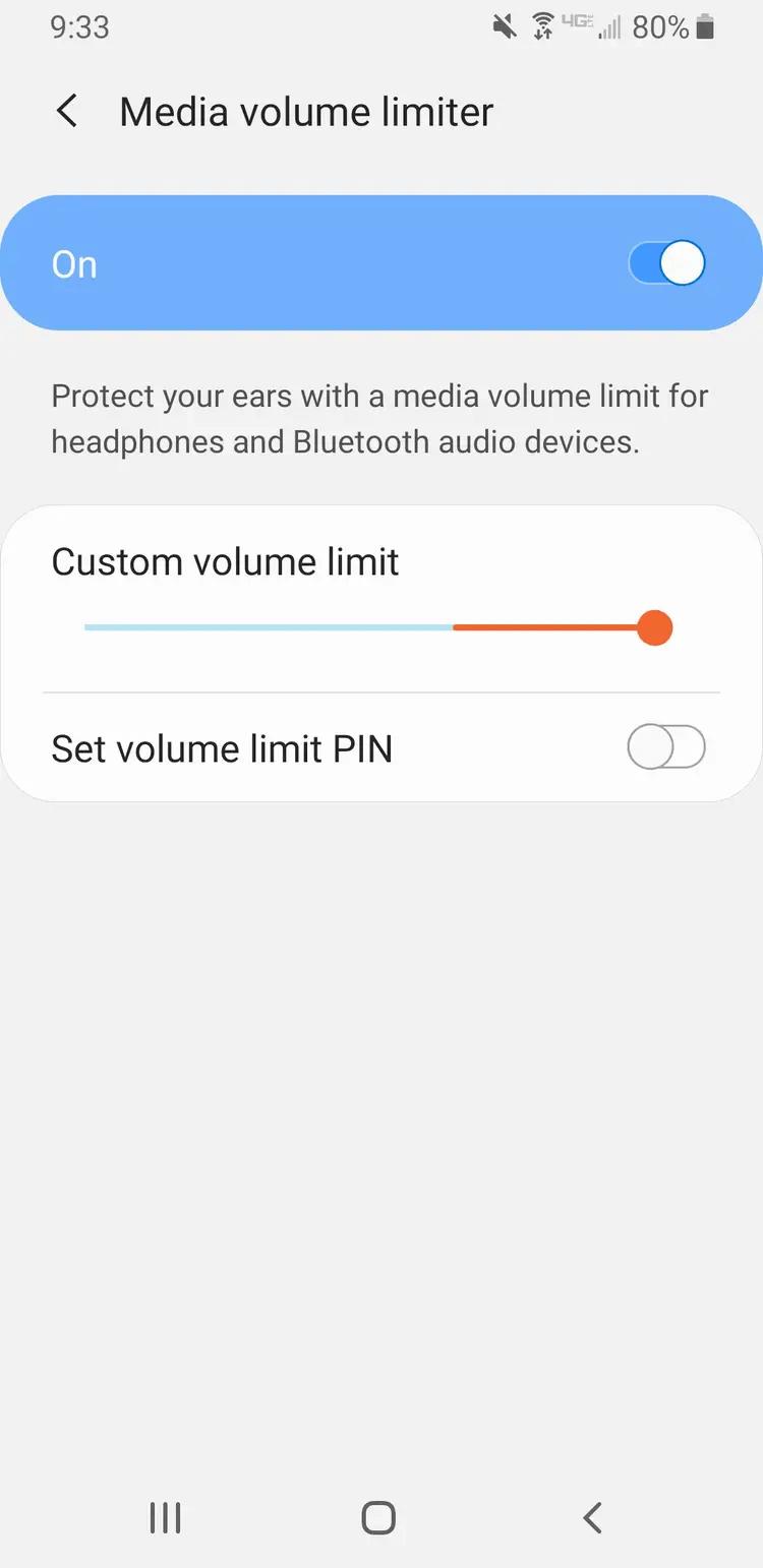 Mi volumen sigue bajando solo Android debido a la función de protección automática