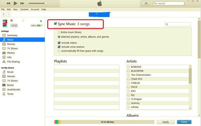Transferir música de iPad a la computadora con iTunes
